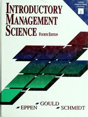 Introductory management science : annotated instruction's edition /